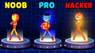 NOOB vs PRO vs HACKER - Super Stickman Heroes Fight