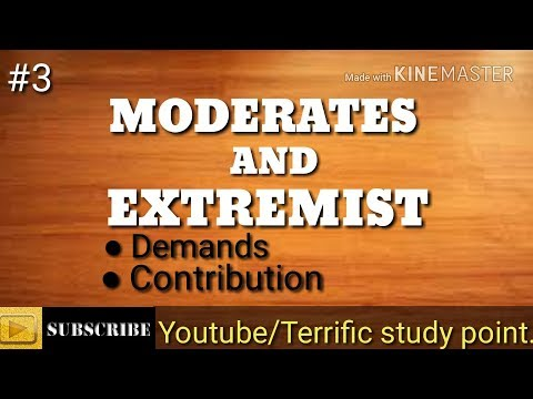 Moderates and Extemists of Indian National Congress/Terrificstudypoint