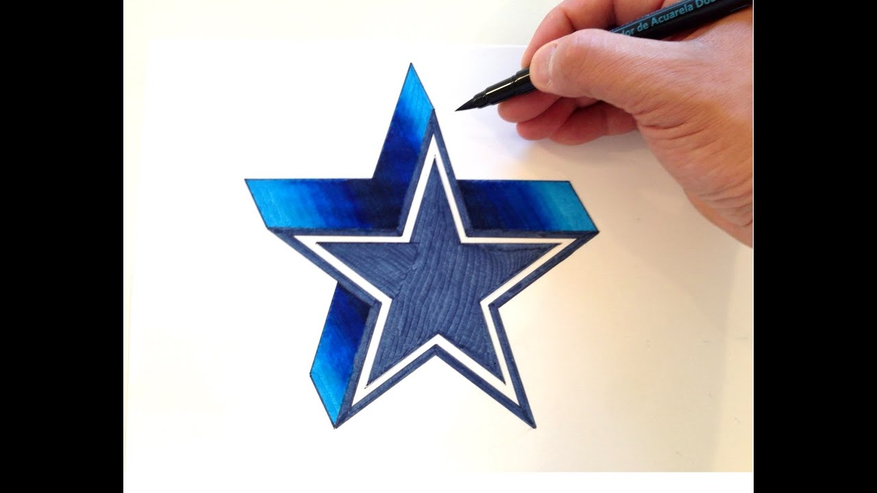 how to draw the dallas cowboys logo in 3d youtube