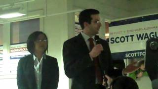 Alderman Scott Waguespack's victory speech - 2011 thumbnail