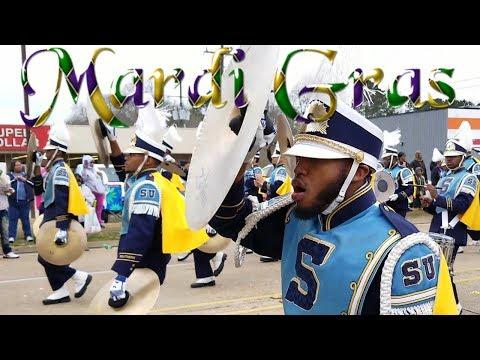 SU Funk Factory Drumline - 2018 Mardi Gras Parade
