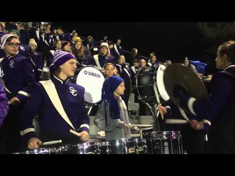 Sevier County High School Marching Band celebrates touchdown 11/20/2015