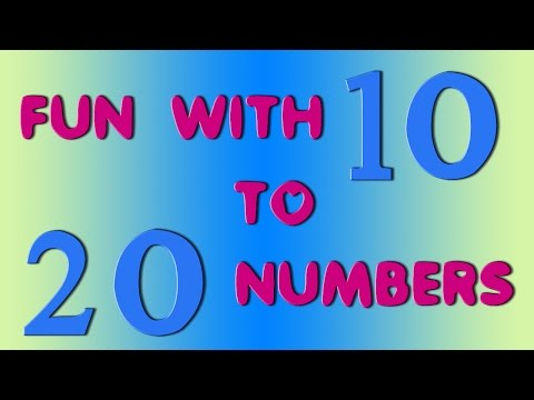 The Numbers Song - Learn To Count from 10 to 20 - Number Rhymes For Children