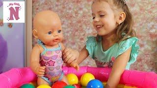 БЕБІ БОН Розпакування посилки Одяг для ляльки Baby Born Настя як мама Відео для дітей