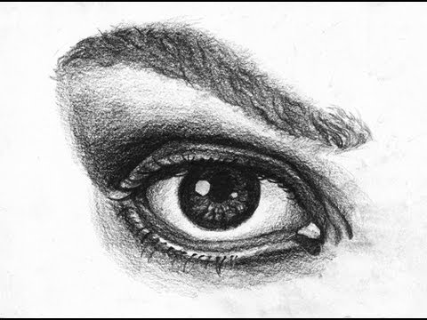 comment dessiner un oeil r aliste how to draw a realistic eye youtube. Black Bedroom Furniture Sets. Home Design Ideas