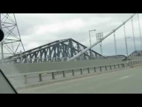 Crossing Bridge to Quebec City - Across Canada Road Trip