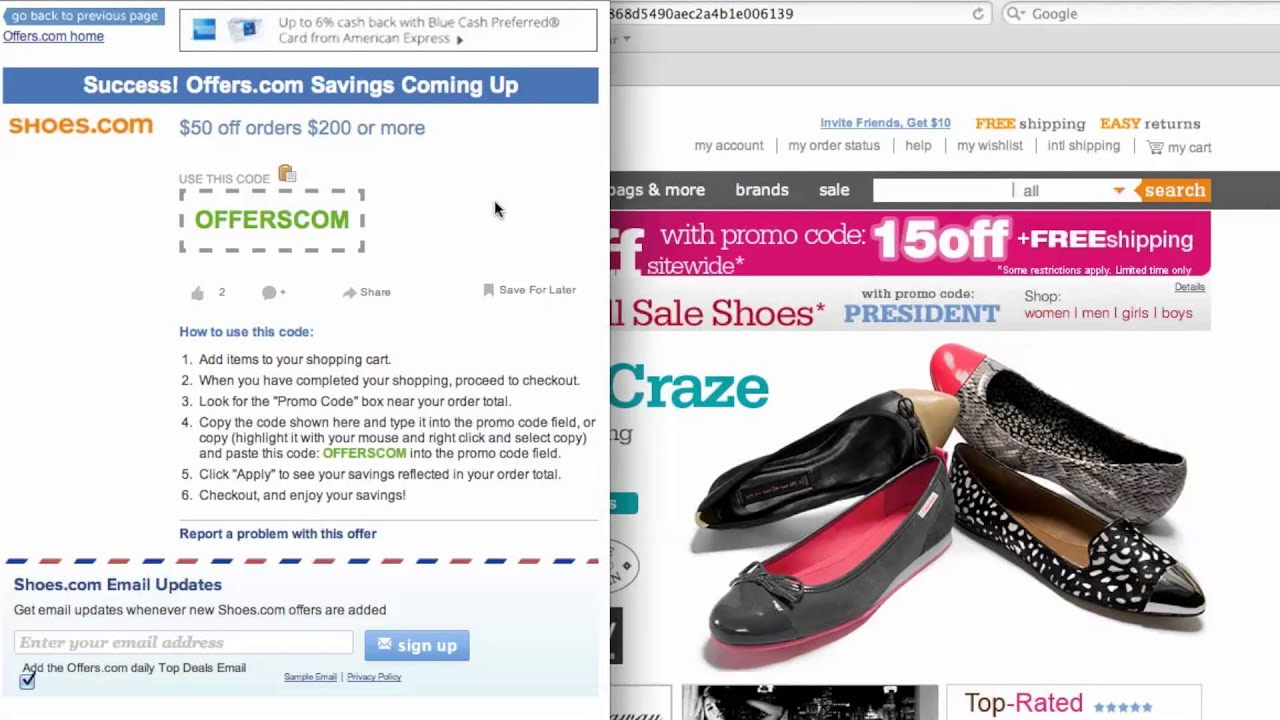 57cb79f461 Shoes.com Coupon Code - How to use Promo Codes and Coupons for Shoes.com