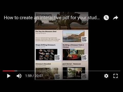 How to create an interactive pdf for your students