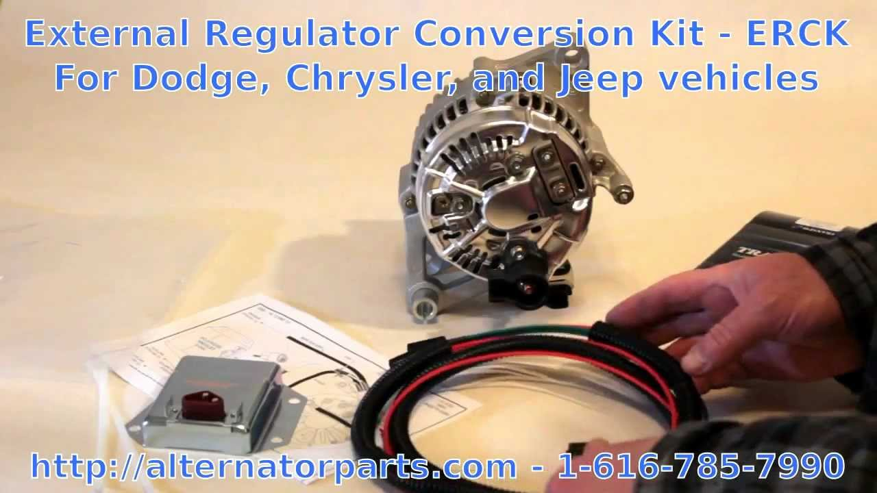dodge  chrysler  jeep charging problem fix  external regulator kit