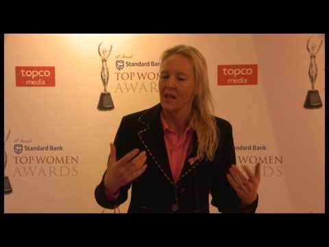 Professor Carol Benn speaking about winning the Civil Society Org. Award