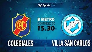 Colegiales vs Villa San Carlos full match
