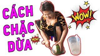 BUI VLOGS | Hướng dẫn cách chặc dừa - Trái dừa nhỏ mà nhiều nước quá