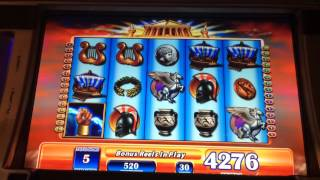 Zeus hand pay bonus huge win $15 bet high limit slot machin