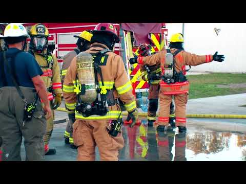 Dunedin Firefighters train with live fire!