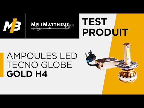 Test des ampoules LED Tecno Globe Gold H4