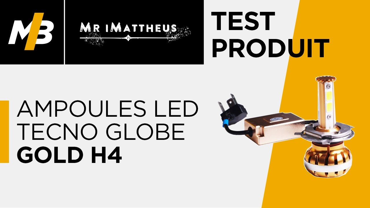 Ampoule Led Vis Test Des Ampoules Led Tecno Globe Gold H4