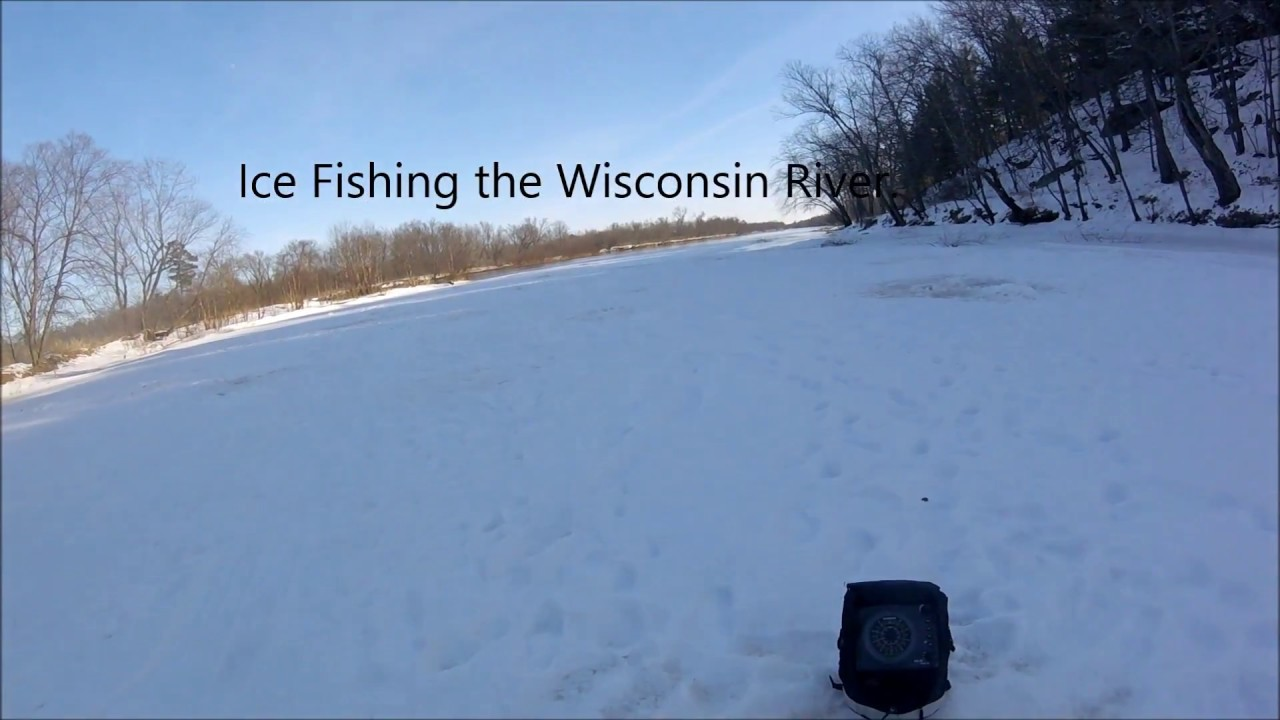 Ice fishing the wisconsin river youtube for Ice fishing clearance