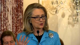 Secretary Clinton Delivers Remarks at the Signing of the