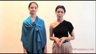 How To Wear A Pashmina With A Dress - Style 03