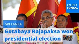 Former defence minister wins Sri Lanka presidential election