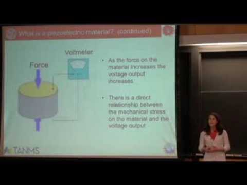 Smart Materials: Introduction to Piezoelectricity lecture by Elizabeth Vanderhoef