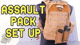 DesertFox Airsoft: Milsim Assault Back Pack Set Up (My Back Pack Set Up)