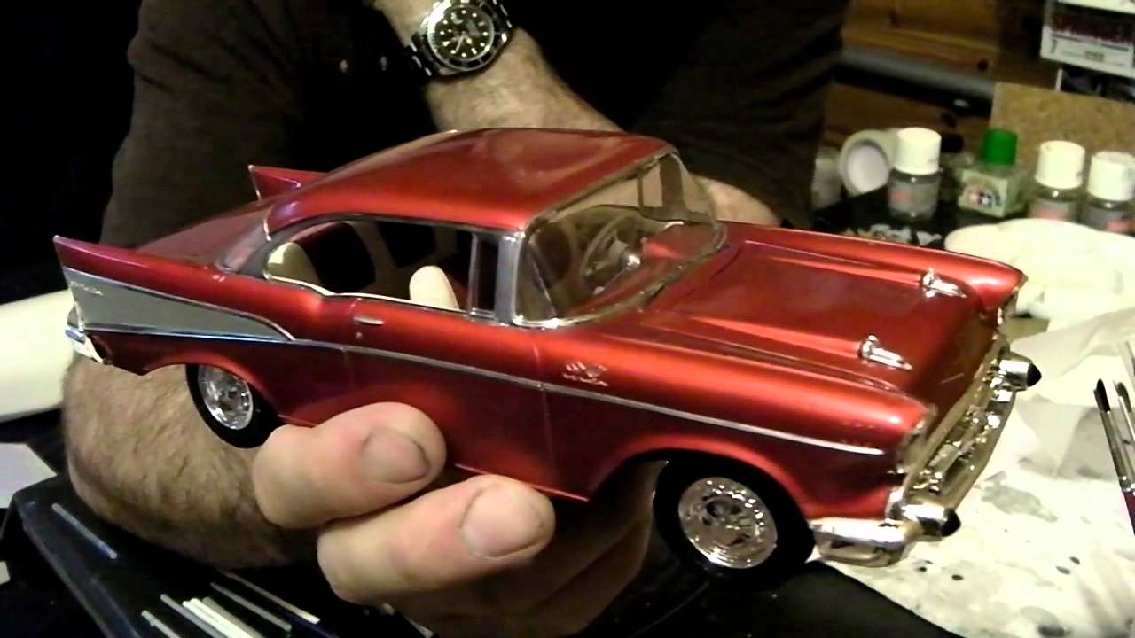 57 chevy bel air revell monogram chevrolet 1 24th model kit build part 5 completed youtube