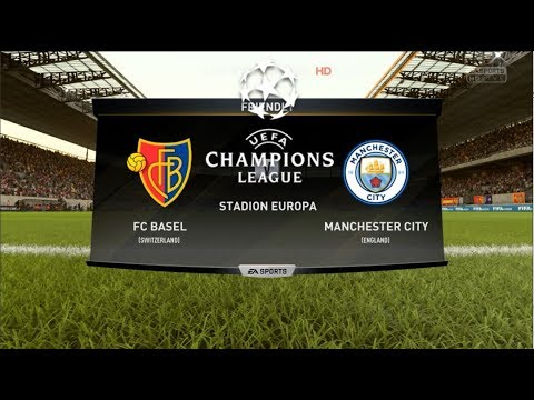 FC Basel vs Manchester City I Round of 16 UCL 1st Leg I FIFA 18 Full Match Gameplay