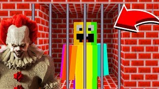 Minecraft ESCAPING PENNYWISE PRISON!(Ps3/Xbox360/PS4/XboxOne/PE/MCPE)