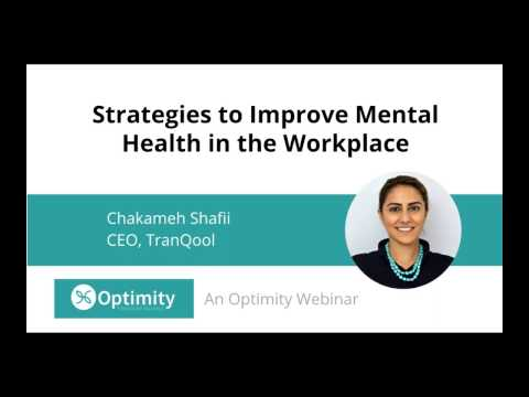 Strategies to Improve Mental Health in the Workplace