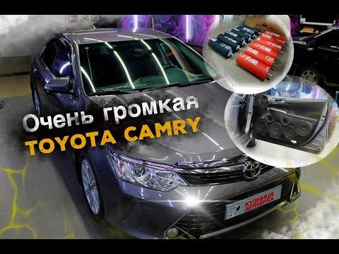 Очень громкий проект в Toyota Camry. Переделка дверных карт и мощный сабвуфер в багажник.