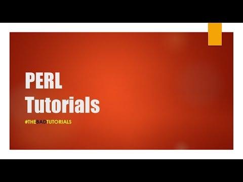 Perl Tutorial - 5: Arrays