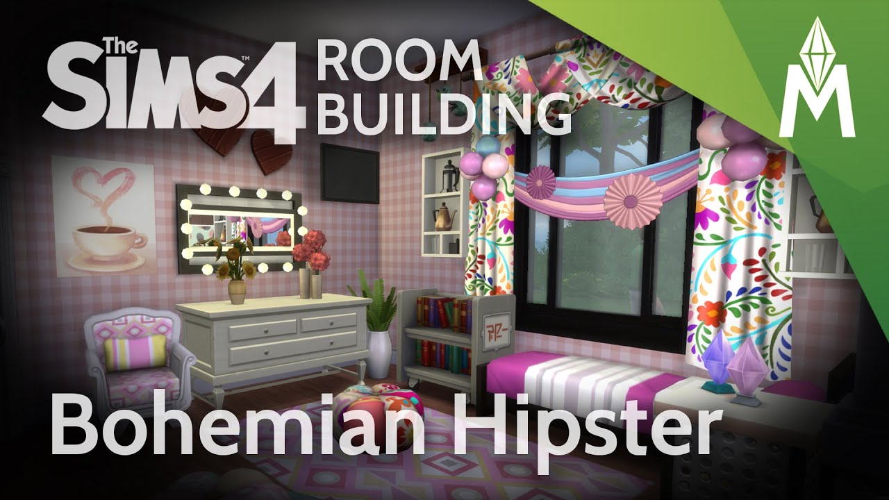 The Sims 4 Room Building - Bohemian Hipster Bedroom - YouTube