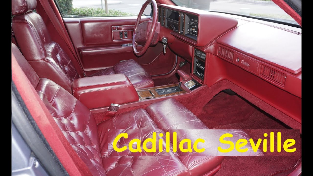 1990 Cadillac Seville Interior Review Video Youtube