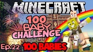 100 BABIES! | FINAL Minecraft 100 Baby Challenge Ep.22