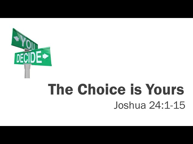 Christway June 21 | The Choice is Yours