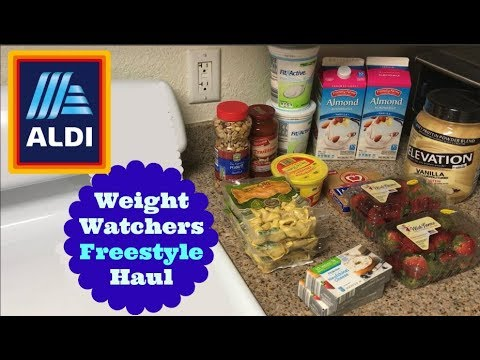 36 aldi grocery haul for weight watchers freestyle with smart points losing weight on a. Black Bedroom Furniture Sets. Home Design Ideas