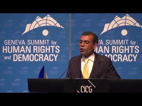 Mohamed Nasheed at Geneva Summit 2017