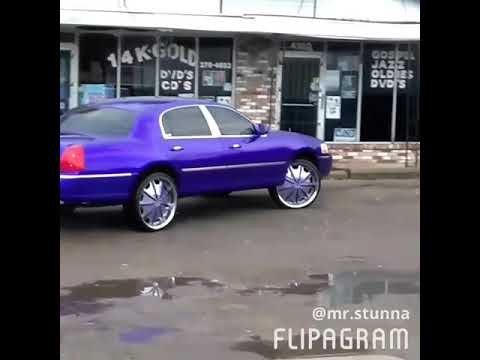 Candy Purple Passion Lincoln Town Car On 24 Color Match Rims Youtube