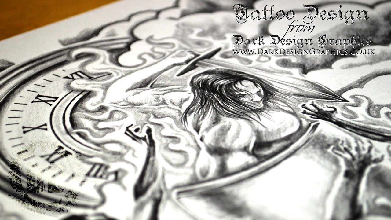 Custom Tattoo Design - Half Sleeve - YouTube
