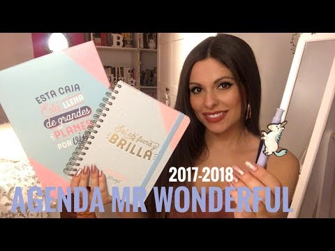 NUEVA AGENDA MR. WONDERFUL (2017-2018) Unboxing, review... | Bstyle