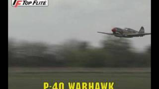 Top Flite Giant P-40 Warhawk Scale ARF 2.6-3.3,86