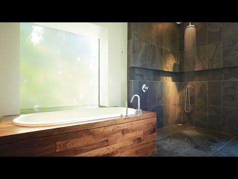 Salle de bain bois et galet photos de conception de for Salle de bain galet et bois