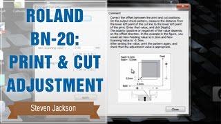 رولان BN-20: Print & Cut تعديل