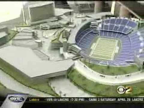 Los Angeles Football Stadium on KCBS News (4/17)