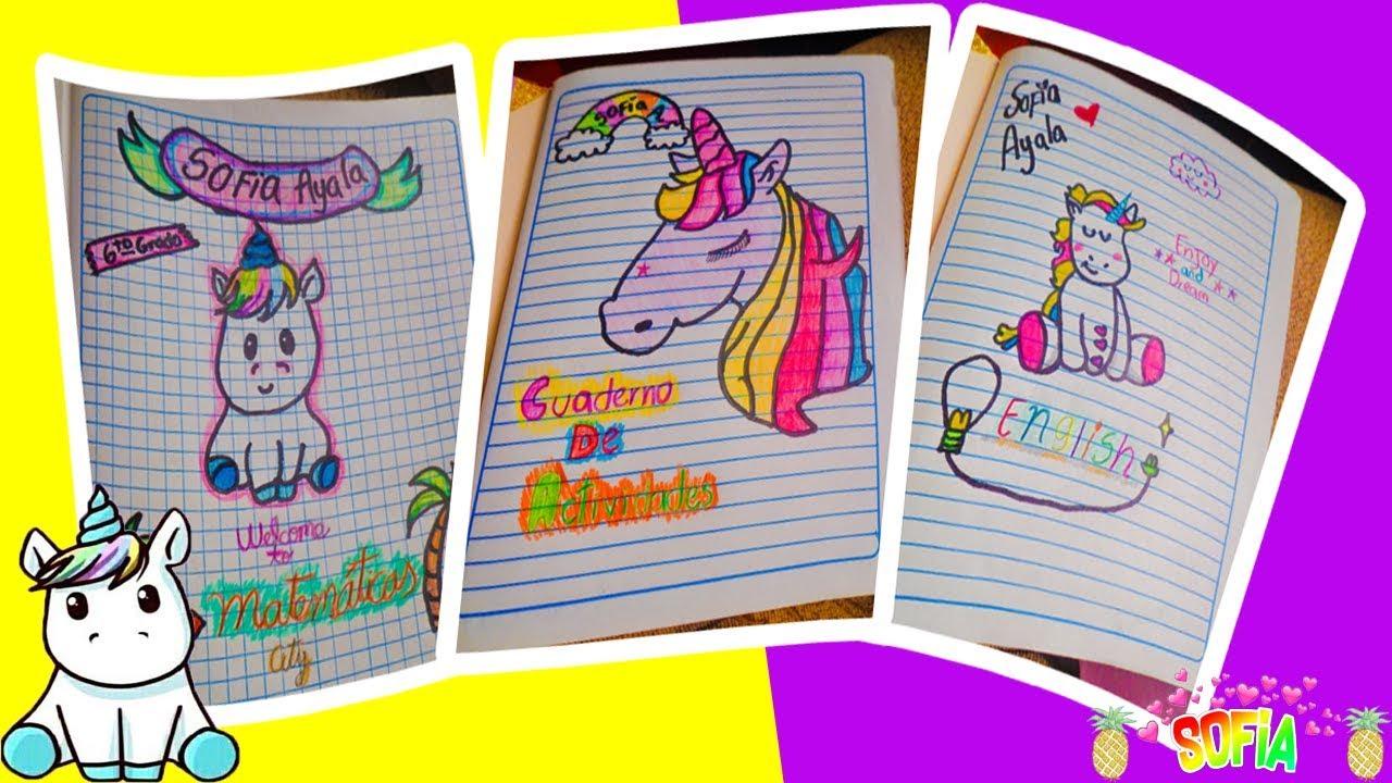 Dibujos Para Portadas De Cuaderno: Portadas De Unicornio Para Tus Cuadernos