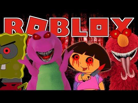 Team Elmo Roblox Survive Evil Barney Dora Elmo And Spongebob Roblox Adventures Roblox Gameplay Vloggest