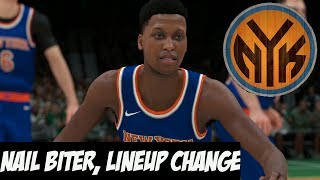 NBA 2K18 New York Knicks MyGM | Super Close Game + Lineup Change