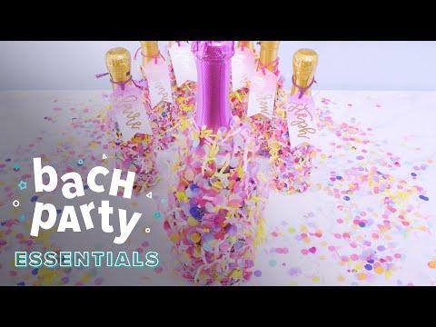 Bachelorette Party Favors: Confetti Champagne Bottles