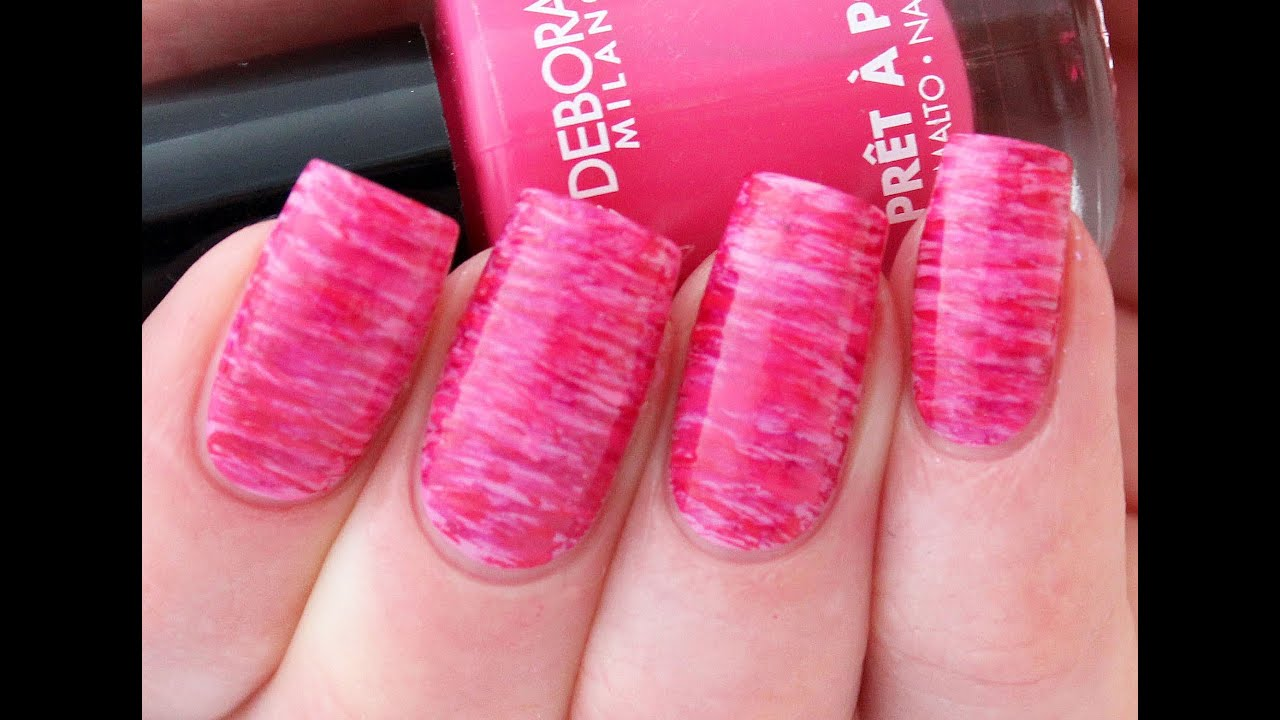 Striped fan brush nail art tutorial youtube prinsesfo Image collections